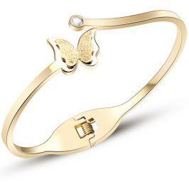 Troli Romantický motýlí náramek Metal Butterfly KBS-154-GOLD