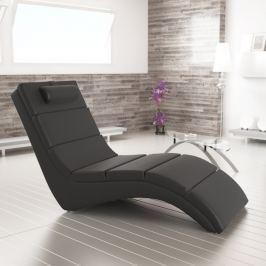 Tempo Kondela Relaxační křeslo, ekokůže černá, LONG