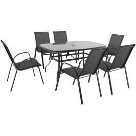 Creador Verona 6+ sestava nábytku z kovu (6x židle + 1x stůl)