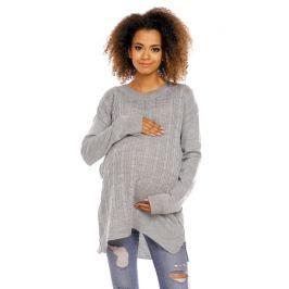 Be MaaMaa Těhotenský, kojící svetřík ALLY - šedý