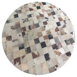 Tempo Kondela Luxusní koberec, kůže, typ patchworku, 150x150 cm, KOBEREC KOŽA typ10