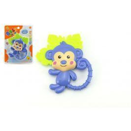 Teddies Kousátko/chrastítko opice plast 14cm na kartě 3m+