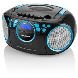 Hyundai - černá Radiomagnetofon Hyundai TRC 788 AU3BBL s CD/MP3/USB, černá/modrá