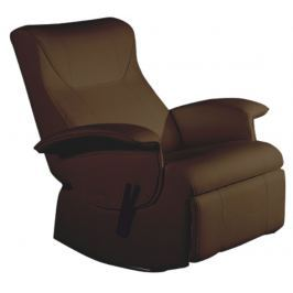 Tempo Kondela relaxační křeslo, hnědá textilní kůže PU, ROMELO C3 |