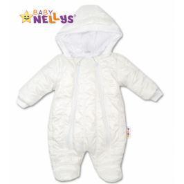 Baby Nellys Kombinézka s kapuci LUX  ®prošívaná - bílá, 74 (6-9m)