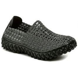 ROCK Spring Full černo stříbrná dámská obuv, 38