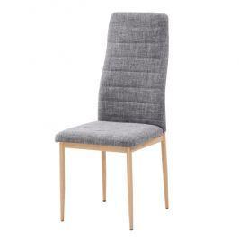 Tempo Kondela Židle, světlešedá látka / buk, COLETA NOVA
