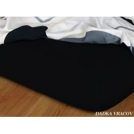 Dadka Prostěradlo  Jersey černá C, 200x220x18