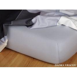 Dadka Prostěradlo  Jersey šedá B, 200x220x18
