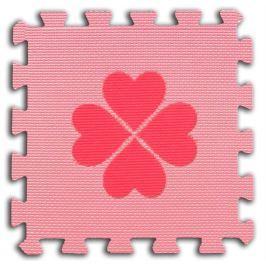 BABY Pěnové  puzzle Čtyřlístky 1 díl (růžový)