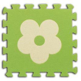 BABY Pěnové  puzzle Kytičky 1 díl (zelený)