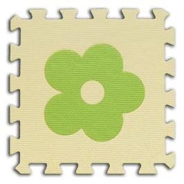 BABY Pěnové  puzzle Kytičky 1 díl (béžový)