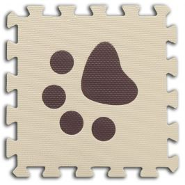 BABY Pěnové  puzzle Tlapky 1 díl (béžový)