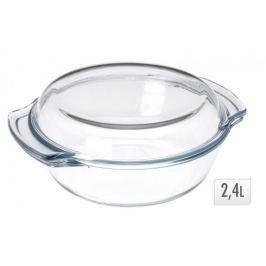 EXCELLENT Zapékací mísa s poklicí sklo 2,4 L