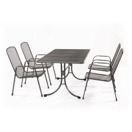 MWH Bani 4+ sestava nábytku z tahokovu (4x židle Savoy Basic, 1x stůl Universal 145)