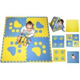 BABY Pěnový  koberec s okraji - modrá,žlutá, tl.20mm