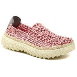 ROCK Spring ZIGGY Red Stripe červená dámská gumičková obuv, 40