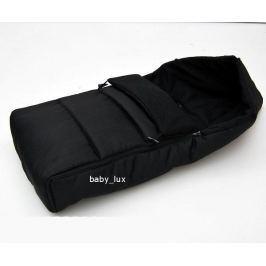 Zimní fusak s fleecem 90cm  - černá + černá