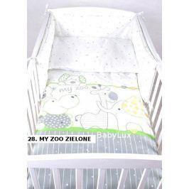 Pěti dílný set peřinka+ polštář+povlečení + mantinely do postýlky - my ZOO zelená