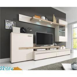 Tempo Kondela Obývací stěna, DTD laminovaná, bílá / dub, COBRA