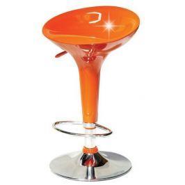 Tempo Kondela Barová židle, oranžová/chrom, INGE