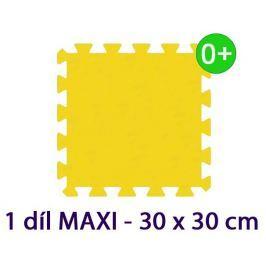 MALÝ GÉNIUS Pěnový koberec  - MAXI 1 dílek, 16mm, žlutý