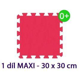 MALÝ GÉNIUS Pěnový koberec  - MAXI 1 dílek, 16mm, červený