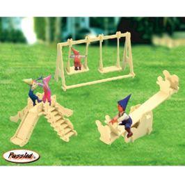 Dřevěné skládačky 3D puzzle - Hřiště P036