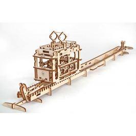 Ugears dřevěná stavebnice 3D mechanické Puzzle - Tramvaj - poškozený obal