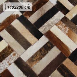 Tempo Kondela Luxusní koberec, kůže, typ patchworku, 140x200 cm, KOBEREC KOŽA typ2