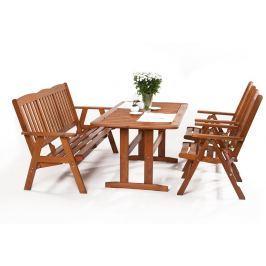Garland - nábytek Garland Sven 2+3+ sestava nábytku z borovice (2x pol. křeslo, 1x třímístná lavice, 1x stůl)