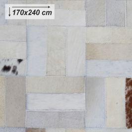 Tempo Kondela Luxusní koberec, kůže, typ patchworku, 170x240 cm, KOBEREC KOŽA typ1