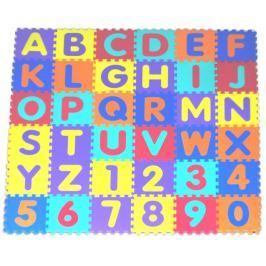 Pěnové puzzle - pěnový koberec, Písmena a čísla II (díl 30x30cm)