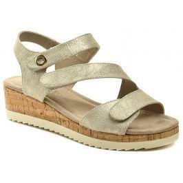 Sprox 399461 béžové dámské sandály na klínu, 39