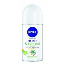 Nivea Kuličkový deodorant Pure & Natural Jasmín (Deodorant Roll-On) 50 ml