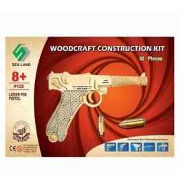 Dřevěná skládačka - Pistol Luger P120