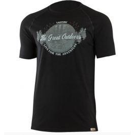 Lasting Pánské tričko  LUCAS, L, Černá