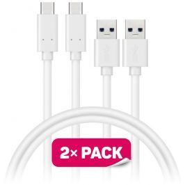 Connect IT Wirez USB-C (Type C) - USB, bílý, 1 m (2 ks v balení)