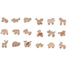 Dřevěné hračky - hračka na kolečkách, různé druhy - Delfín