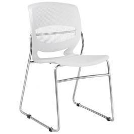 Tempo Kondela Kancelářská židle, plast + kov, bílá, IMENA