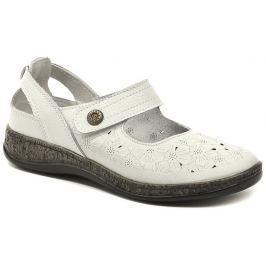 Cortina.be Eveline 1-7158B bílá dámská letní obuv, 40