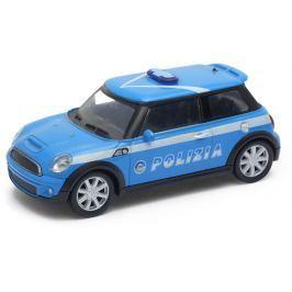 Welly - Mini Cooper S 1:43 policie bílá