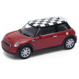 Welly - Mini Cooper S (šachovnice) model 1:43 červený