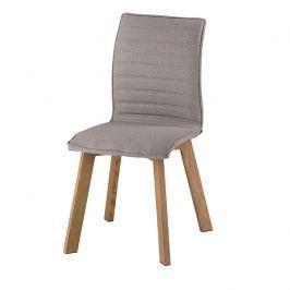 Tempo Kondela Jídelní židle, šedá látka / kov, buk, NASTIA