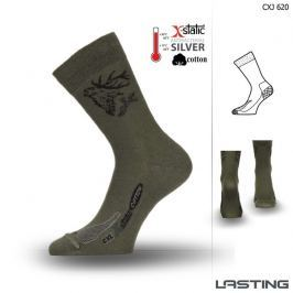 Lasting Trekingové ponožky  Cxj, 38 - 41, Zelená