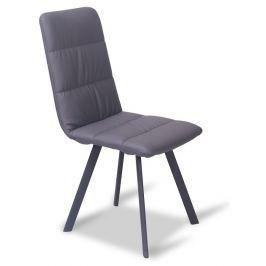 Tempo Kondela Jídelní židle, šedá / černá, AKIM
