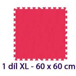 MALÝ GÉNIUS Pěnový koberec  - XL 1 dílek, 8mm, červený (díl 60cm)