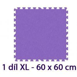 MALÝ GÉNIUS Pěnový koberec  - XL 1 dílek, 8mm, fialový (díl 60cm)