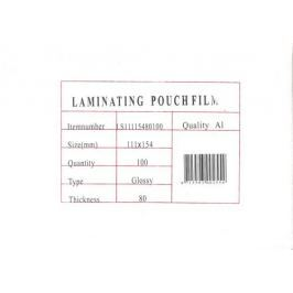 Fellowes Laminovací fólie  / Eurosupplies lesklé 100ks, A6, 80mic