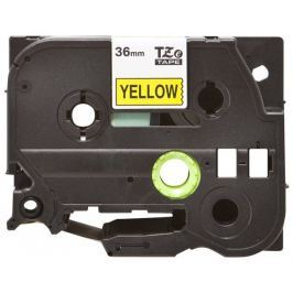 OEM Páska TZE-661 (TZE661) kompatibilní pro Brother, 36mm, žlutá/černá, laminovaná,